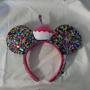 Birthday Cupcake Minnie Ears